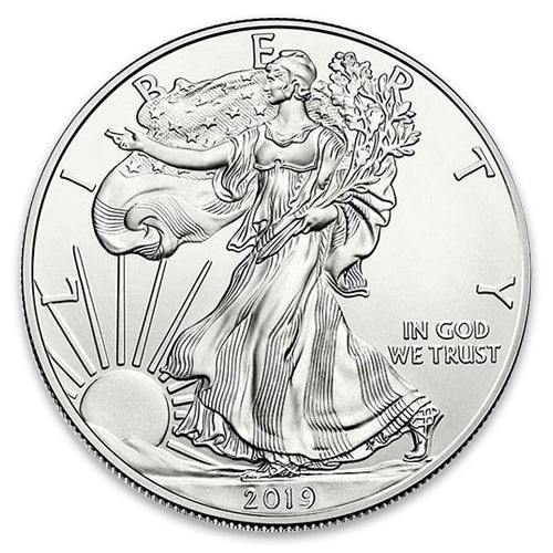 2019 American Silver Eagle One Troy Ounce   .999 Fine silver Free Shipping