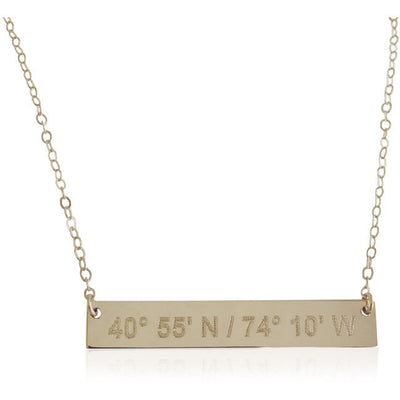 Love Notes Bar Necklace - Lat & Lo™ - 6
