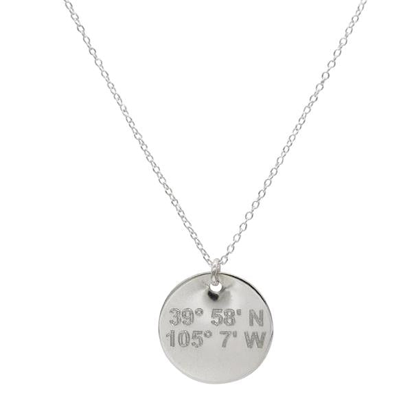 LUXE Lat & Lo™ Disc Necklace