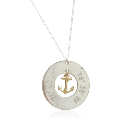 Where are You Anchored™ Necklace - Lat & Lo™ - 1