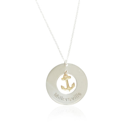 Where are You Anchored™ Necklace - Lat & Lo™ - 2