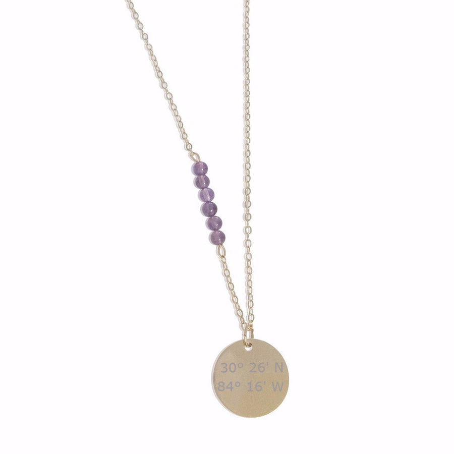 Stone Accent Lat & Lo™ Necklace - Lat & Lo™ - 1