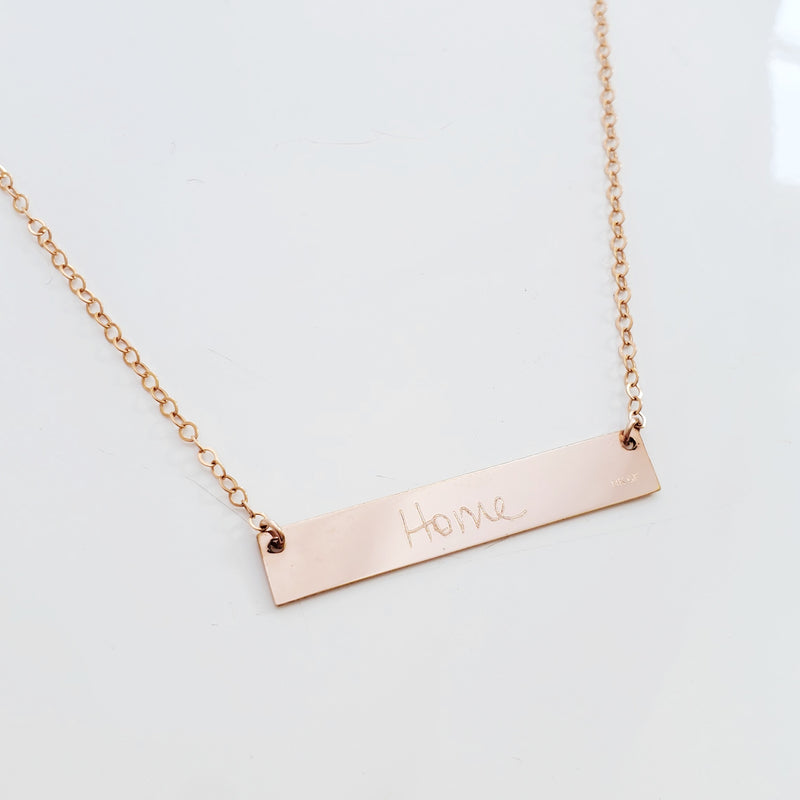 Love Notes Necklace (Handwriting + Coordinates)