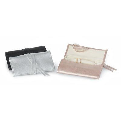Leatherette Travel Jewelry Roll