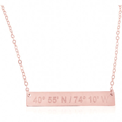 Bar Necklace | Luxe (solid gold)