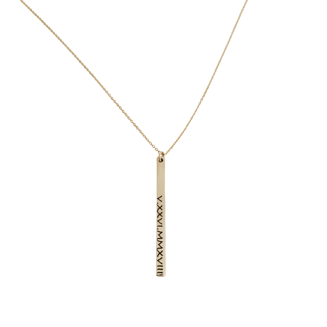 Sidney Necklace (Roman Numerals)