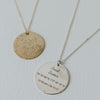 star map coordinates necklace by Lat & Lo shown in sterling silver and 14k gold-filled