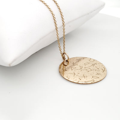 Custom Star Map Necklace in Gold-Filled by Lat & Lo