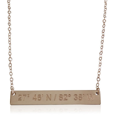 Love Notes Bar Necklace - Lat & Lo™ - 4