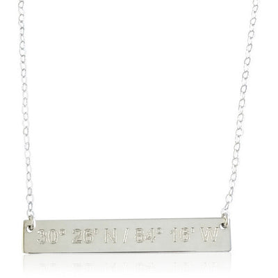 Love Notes Bar Necklace - Lat & Lo™ - 5