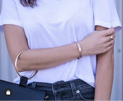 Lat & Lo_ Coordinates Cuff Bracelet_Gold_Filled