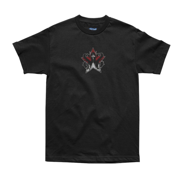 Sick Symphonies Hood Star Tee in Black