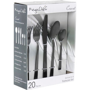 Megachef La Vague 20 Piece Flatware Utensil Set Stainless