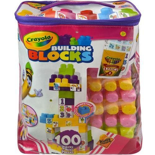 Crayola Kids 100-Piece Block Set With Crayons & Decal Sheets