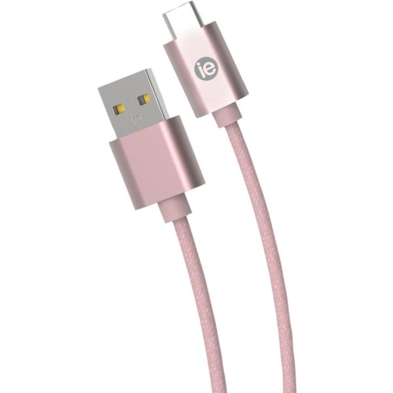 Iessentials Ien-bc10c-rgld Charge And Sync Braided Usb-c To