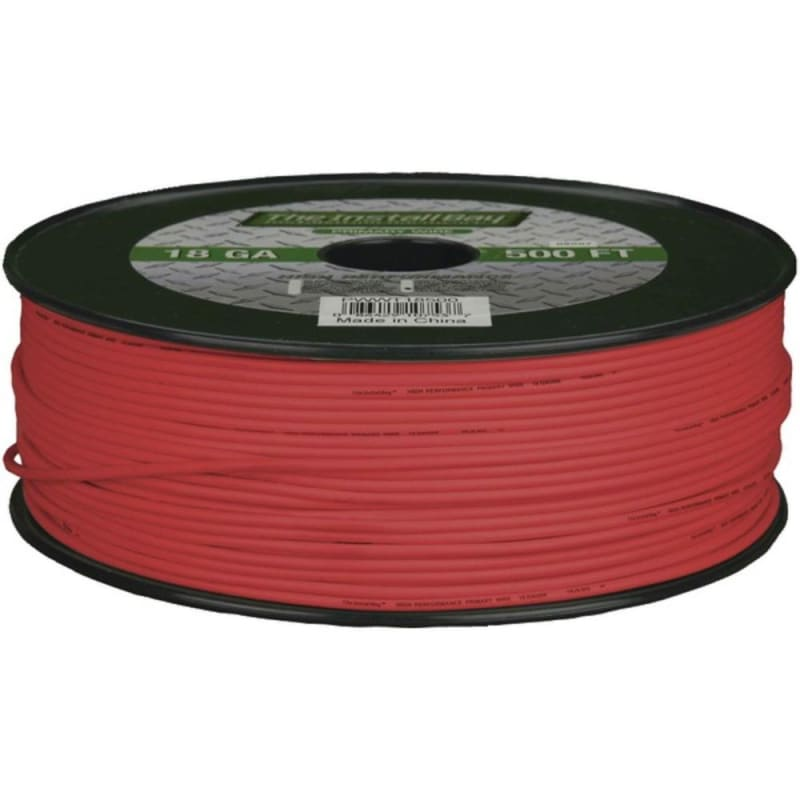 Install Bay Pwrd18500 18-gauge Primary Wire 500ft (red) -
