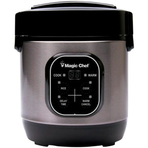 Magic Chef Mcsrc03st 3-cup Stainless Steel Rice Cooker -