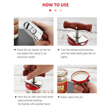 Load image into Gallery viewer, Manual Stainless Steel Easy Can Jar Opener Adjustable - Home