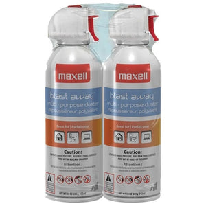 Maxell 190026 - Ca4 Blast Away Canned Air (2 Pk) -