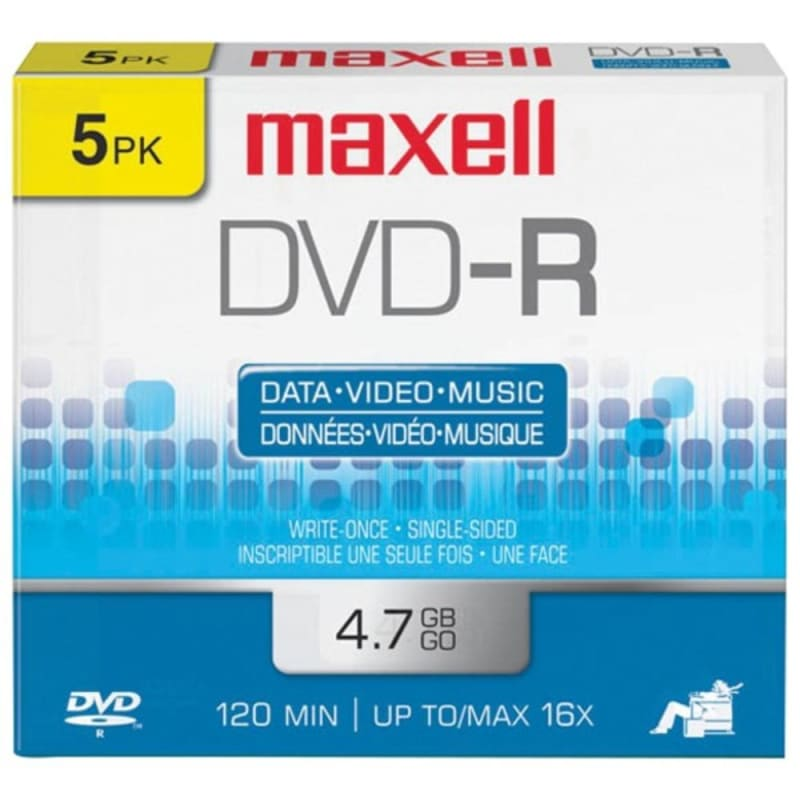 Maxell 638002 4.7gb 120-minute Dvd-rs (5 Pk) -