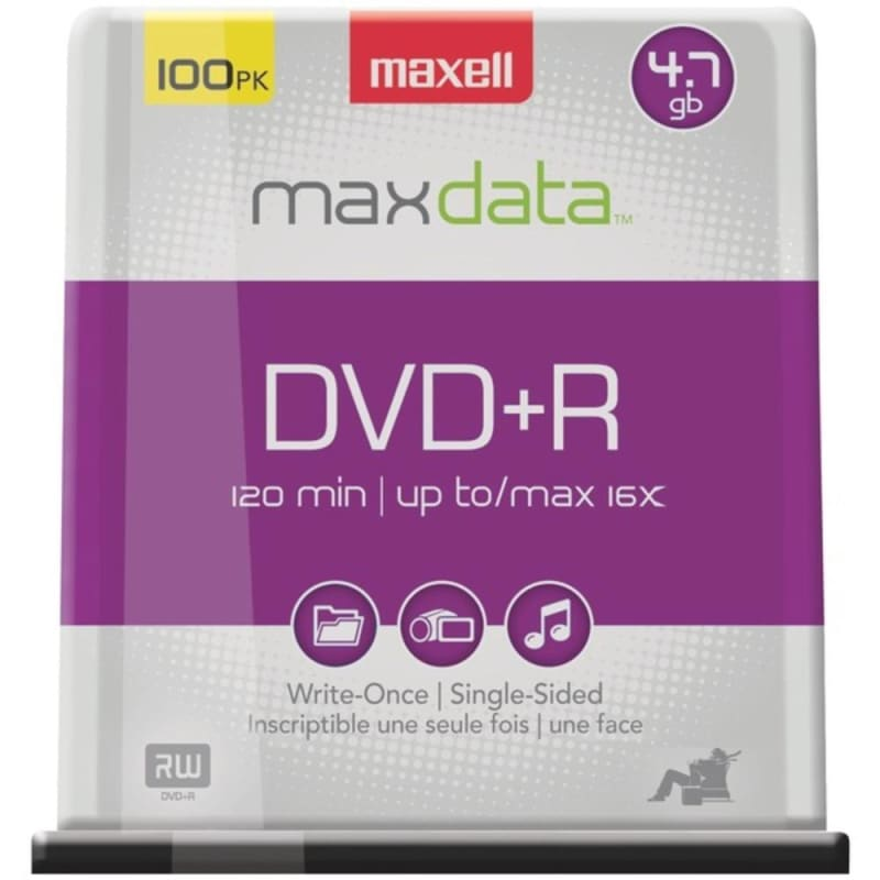 Maxell 639016 4.7gb 120-minute Dvd+rs (100-ct Spindle) -