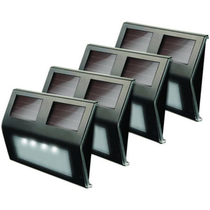 Maxsa Innovations 47334-bz Solar Led Deck Light 4 Pk (bronze