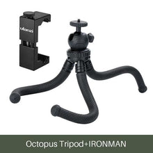 Load image into Gallery viewer, Mini Tripod Flexible Phone Tripod Stand - w Metal Mount -