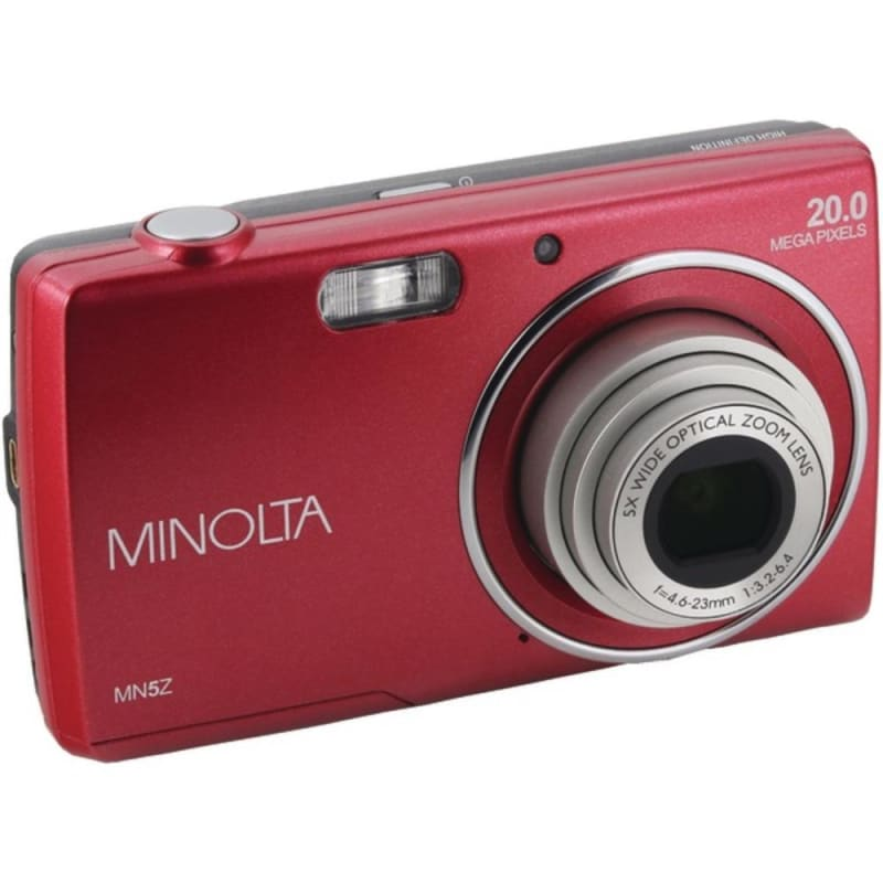 Minolta Mn5z-r 20.0-megapixel Mn5z Hd Digital Camera With 5x