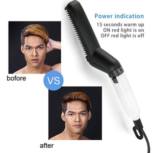 Multifunctional Hair Comb Brush Beard Straightener -