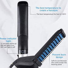 Load image into Gallery viewer, Multifunctional Hair Comb Brush Beard Straightener -