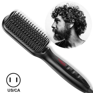 Multifunctional Hair Comb Brush Beard Straightener - style 3
