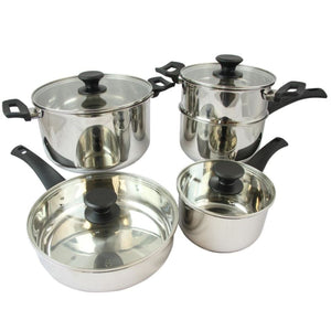 Oster Sabato 9 Piece Stainless Steel Cookware Set With Lids