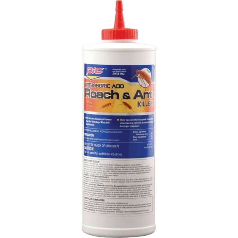 Pic Ba-16 Orthoboric Acid Roach And Ant Killer 16 Ounces -