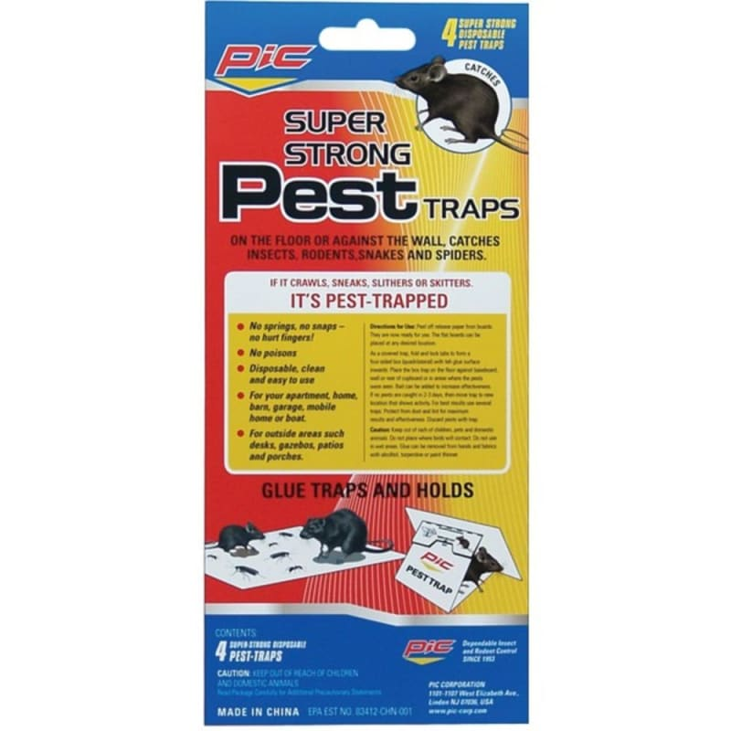 Pic Gpt-4 Glue Pest Trap For Spiders And Snakes 4 Pk - Home