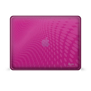 Pink Flexi-clear Case With Dot Wave Pattern For Ipad 1g -