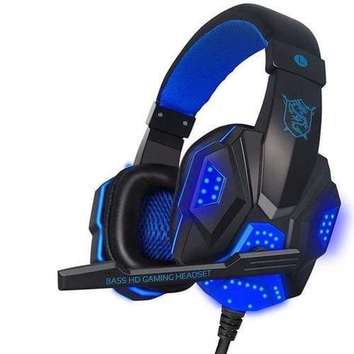 Potable Microphone Headset Gaming Wired Headphone - black