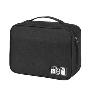 Portable Travel Cable Bag Digital USB Gadget - Black - Other