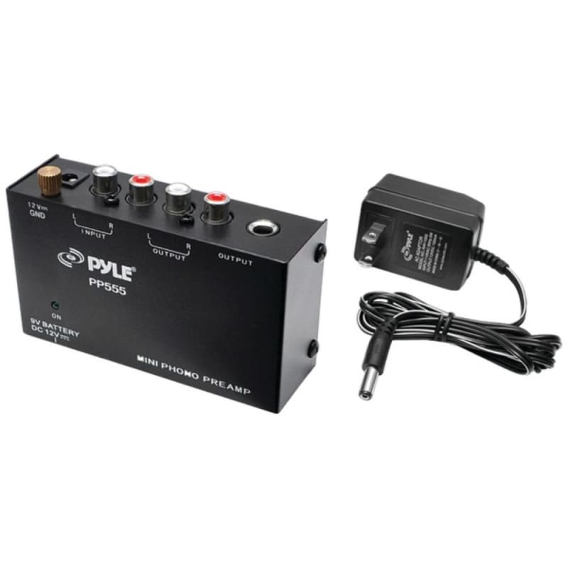 Pyle Pro Pp555 Ultra-compact Phono Turntable Preamp - Tech