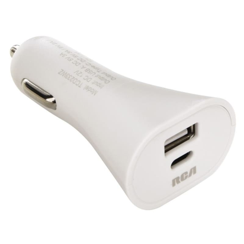 Rca Tcd233wz Usb-c Car Charger - Phone Accessories