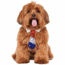 Load image into Gallery viewer, Red White Blue Sequins Pet Tie - M/L - Pets