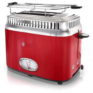 Russell Hobbs Retro Style 2 Slice Toaster In Red - Home