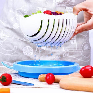 Salad Cutter Bowl Kitchen Gadget Vegetable Chopper - Home &