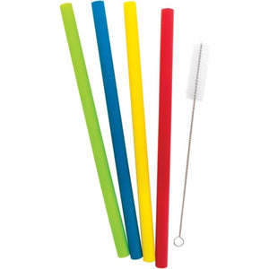 Starfrit 092849-006-0000 Reusable Silicone Straws 4-pack -