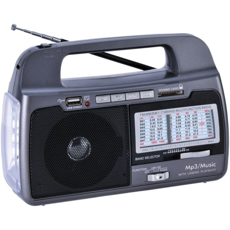 Supersonic Sc-1082 9-band Am-fm-sw 1-7 Portable Radio -