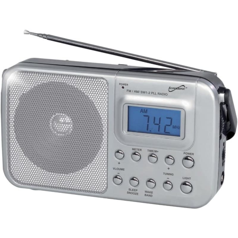 Supersonic Sc-1091 Portable 4-band Am-fm-sw 1-2 Radio -