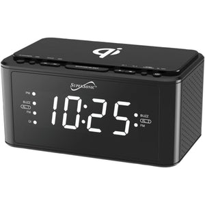 Supersonic Sc-6030qi-bk Clock Radio With Qi Wireless