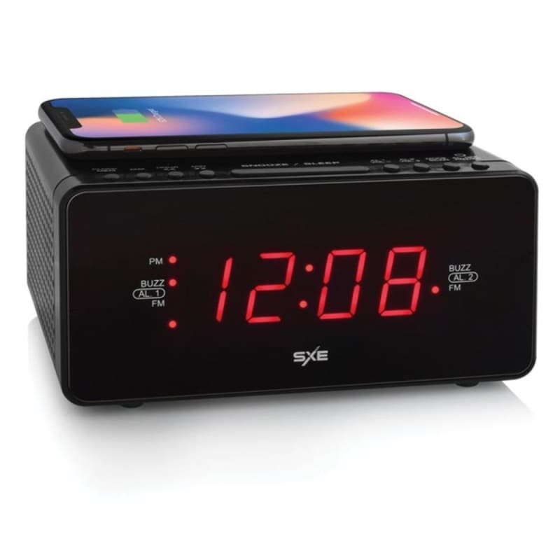 Sxe Sxe87014cn Digital Led Clock Radio With Wireless