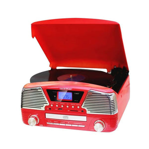 Techplay 3 Speed Turntable Programmable Mp3 Cd Player Usb-sd