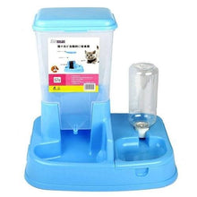 Load image into Gallery viewer, Two In One Automatic Pet Food Feeder Bowl - L / Blue -
