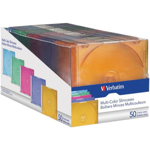 Verbatim 94178 Color Cd-dvd Slim Cases 50 Pk - Tech